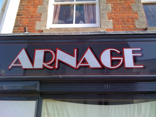 Art deco style signwriting
