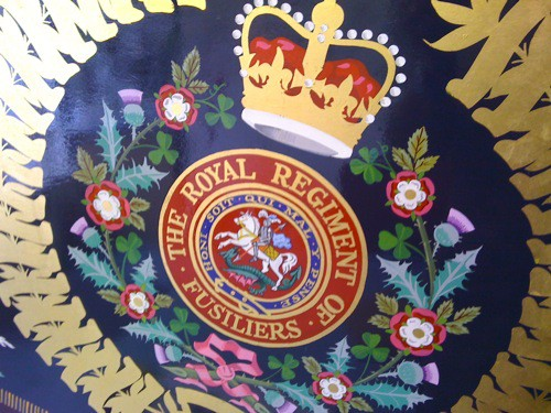 Gold leaf Heraldry hand painted