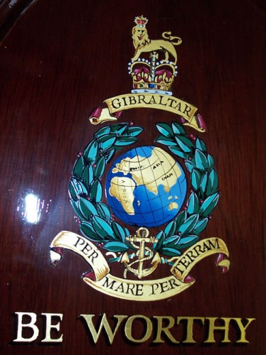 Hand painted and gilded Military badge