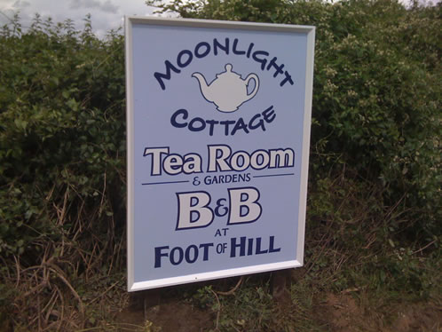 Handmade and lettered tea room signage