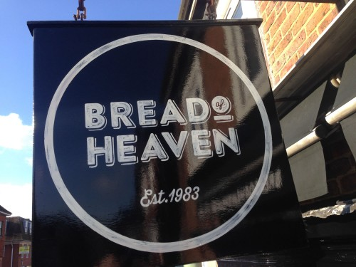 Bread of Heaven Bakery - hanging sign