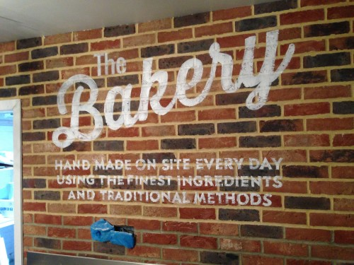 Bread of Heaven Bakery - sign written wall