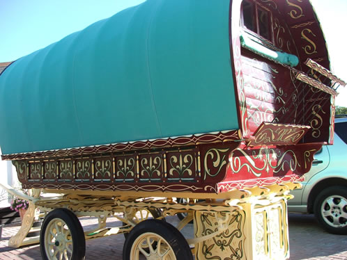 Painted travellers caravan