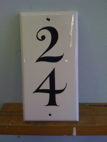 Small but perfectly formed, Hand painted house number sign