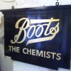 New hanging sign for Boots chemists Midhurst W. Sussex
