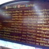 Gold leaf church honours boards