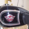 Matchless motorcycle tank pinstriping