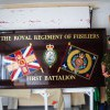 Full Military battle colours sign in Gold leaf and signwriters enamels