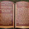 Hand signwritten synagogue prayer boards