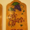Hand painted wine shop signs