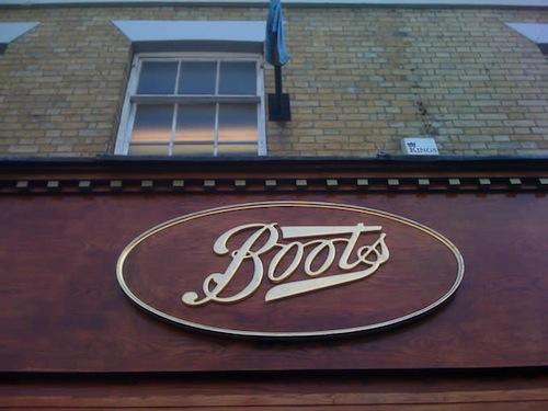Boots the Chemist at Farnham, Surrey