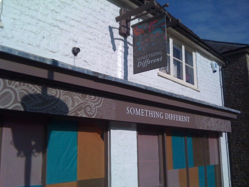 Traditionally signwritten shop fascia in a contemporary style