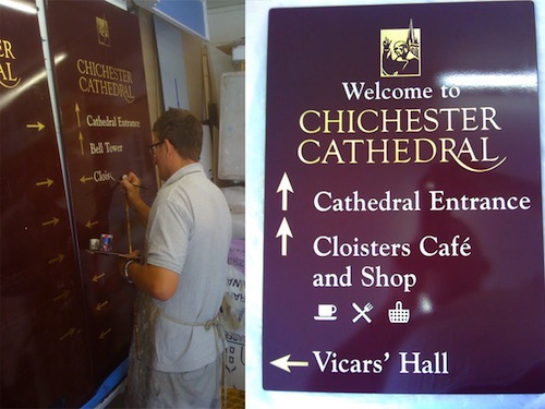 Re-sign at Chichester Cathedral