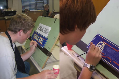 Signwriting course at Midhurst Grammar School
